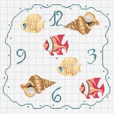 Schema punto croce Orologio 4