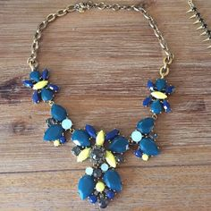 J.Crew necklace Green blue and yellow stones J. Crew Jewelry Necklaces