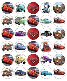 Disney Cars Lightning Mcqueen Cupcake Toppers Edible Paper BUY 2 GET 3RD FREE | eBay