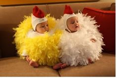 Custom Made Baby or Toddler Chick Chicken Halloween Costume. Infant To Toddler just-for-babies