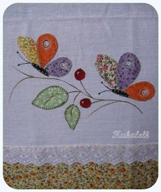 Heavy Chain Stitch in Hand Embroidery (Step By Step & Video Applique Quilt Patterns, Machine Embroidery Applique, Applique Designs, Quilting Designs, Embroidery Patterns, Hand Embroidery, Patch Quilt, Quilt Blocks, Crazy Quilting