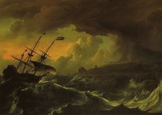 Ludolf Backhuysen - Storm off the Coast of Norway at Royal Museums of Fine Arts of Belgium - Brussels