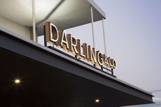 Tony Gooley Design | Darling & Co signage