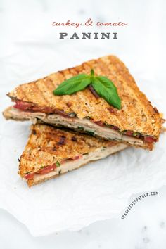 Ready for yournewfavorite turkey sandwich? This panini ispacked with flavor. It's zesty and fresh thanks to perfect roma tomatoes, lemon juice, and fresh basil. It's creamy and rich from a combination of mayo, Greek yogurt, and just a bit of parmigiano reggiano. And guess what? It's only 250 calories. Crazy, right? This is actually a sandwich I've been making for years. I have no idea why it's taken me so long to share it.For some reason I tend to do that with simple r...
