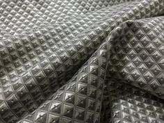 Silver/Grey geometric patterns diamonds vintage upholstery fabric curtain blinds cushions, chair covers, throws Prestige Fabric  - Per Metre