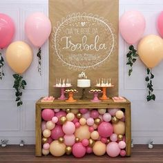 47 Ideas For Birthday Decorations Table Adult Baby Shower Balloon Decorations, Birthday Party Decorations, Baby Shower Decorations, Birthday Parties, Baby Party, Baby Birthday, Birthday Ideas, Party Planning, First Birthdays