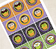 Halloween Party Gift Tags / Cupcake toppers