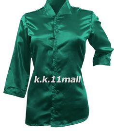 New Satin Shirt Vintage wear satin party Girls Top Satin Fabric Party wear Satin Shirt, Vintage Wear, News Design, Satin Fabric, Shirt Sleeves, Green Colors, Mint Green, Party Wear, Casual Wear