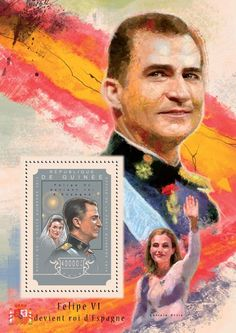 Post stamp Guinea GU 14604 b Felipe VI becomes the King of Spain Stamps, Spain, King, Cover, Movie Posters, Art, Seals, Art Background, Sevilla Spain