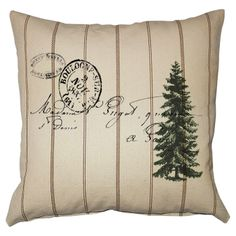 Greensleeves Pillow <3 - can't get this anymore, but could I print my own design on fabric and make my own??