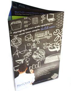 Custom gatefold brochure created for a software developer targeting schools, via BOLD Marketing.com