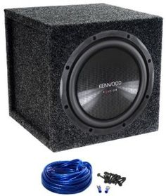 """Package: Kenwood eXcelon KFC-XW12 12"""" 1200w Single 4-Ohm Car Audio Subwoofer With Textured Polypropylene Cone With Rubber Surround + Atrend 12SQL Single 12"""" Sealed Subwoofer Enclosure + Sub Box Wire Kit w 14 Gauge Speaker Wire + Screws + Spade Terminal by Kenwood. $118.95. Package: Kenwood eXcelon KFC-XW12 12"""" 1200w Single 4-Ohm Car Audio Subwoofer With Textured Polypropylene Cone With Rubber Surround + Atrend 12SQL Single 12"""" Sealed Subwoofer Enclosure + Sub Box..."""