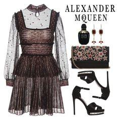 """Designer Set: Alexander McQueen"" by razone ❤ liked on Polyvore featuring Alexander McQueen, minidress, polyvoreeditorial, designerset and polyvoreset"