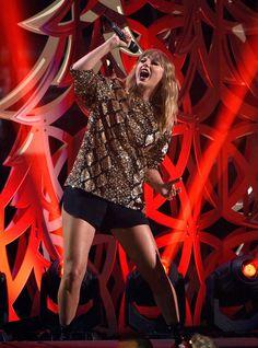 Taylor Swift performing at 102.7 KIIS FM's Jingle Ball 2017 in Inglewood