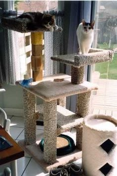 kitty condo plans DIY. No matter how small the apartment our cat deserves a tower!