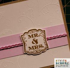 Für meinen neuen Dawandashop STERNSCHEREPAPIER habe heute mal wieder eine Hochzeitskarte erstellt. Die Blumenranken im Hintergrund sind embossed in einem Vanille-Ton und der Mr & Mrs Stempel is...