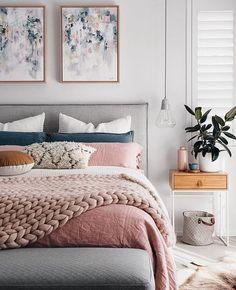 Cute Pink Bedroom Design For Your Valentines Day 03 Suites, Dream Bedroom, Minamilist Bedroom, Blush Bedroom Decor, Bedroom Furniture, Bedroom Inspo Grey, Pink Master Bedroom, Bedroom Decor On A Budget, Modern Bedroom Decor