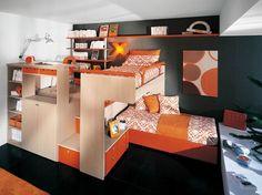 Bedroom, Children Loft Bed Design Pictures: Cheerful Loft Bedroom Concept for Your Kids