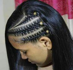 Ideas For Hair Long Peinados Girl Hairstyles Mixed Girl Hairstyles, Baddie Hairstyles, Teen Hairstyles, Braided Hairstyles, Curly Hair Styles, Natural Hair Styles, New Hair Look, Cool Braids, Pinterest Hair