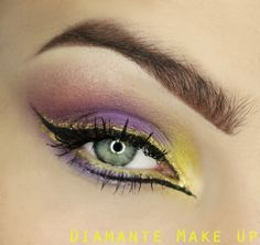 """""""Twilight at Dawn"""" by Diamante Make up featuring the Makeup Geek eyeshadows Shimma Shimma, Sensuous, Wisteria, and Yellow Brick Road."""