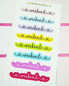 NEW! Lovely Weekend Planner Stickers (Fits the EC Vertical and MAMBI weekend boxes perfectly!). Available in Matte or Glossy. FREE SHIPPING on all orders $20 and above! Code: DECEMBERTREAT lemonpaperco.etsy.com #planner #planners #plannerph #plumpaper #happyplanner #mambi #erincondren #eclp #etsy #etsyshop #sale #lifeplanner #stickers #stickersph #kawaii #planneraddict #plannerlove #plannerobsessed #plannerstickers #plannersupplies #plannergoodies #plannergeek #plannernerd #midori #kikkik…