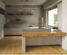 Image result for concrete and wood floor