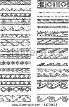 zwart/witte randjes tekenen