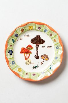 Mushrooms Dinner Plate #anthropologie