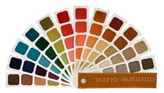 New Warm Autumn Color Swatch Book from Indigo Tones!!
