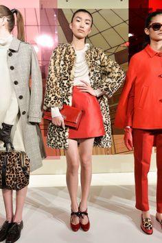 Kate Spade New York Fall 2014...those pearls, that coat
