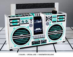 A cardboard boombox?!!!! Awesome!!!!