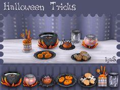 Halloween Treats by soloriya at TSR via Sims 4 Updates