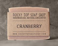 Cranberry Soap from Rocky Top Soap Shop