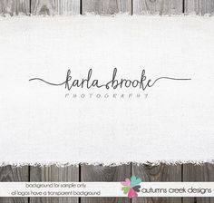 Love the swirly and then the classic fonts look  Photography Logo - Premade Logo Swirly Text Logo for photographer