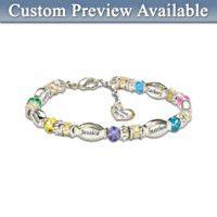 Personalized Birthstone Bracelet: My Family, My Joy