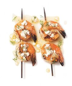 While you've got the grill going for burgers and hot dogs, make some room for these tasty shrimp skewers. The best thing is it doesn't call for many ingredients—just feta and dill (plus a dash of salt, pepper, and a coating of olive oil).