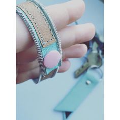 Armband aus Snap Pap und Reißverschluss mit Kam Snap Verschluss