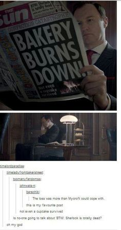BAKERY BURNS DOWN! *btw Sherlock is totally dead*