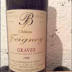 Château Teigney - France - Graves - 1998 #mywinebook #vin #wine #vino - http://appstore.com/mywinebook