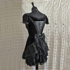 Dress Chanson, victorian, steampunk, lolita, black velour, Somnia Romantica by Marjolein Turin