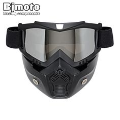 Motocross Goggles Glasses Face Dust Mask With Detachable Oculos Gafas And Mouth Filter For Open Face Vintage Motorcycle goggle Motocross Goggles, Motorcycle Goggles, Motorcycle Shop, Retro Motorcycle, Ski Goggles, Half Helmets, Open Face Helmets, Protection Moto, Armadura Ninja