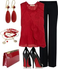 """""""Vision in red"""" by borntoread ❤ liked on Polyvore"""