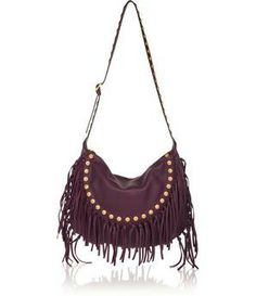 Valentino C-Rockee fringed textured-leather tote