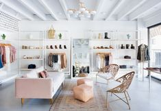 Claire Zinnecker Design - concept of seating area and wall shelving