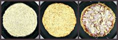 Cauliflower pizza crust... great for the NO CARBS