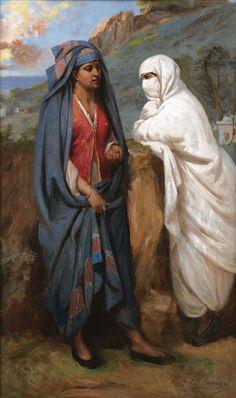 Jean-Raymond-Hippolyte Lazerges (French, 1817-1887). Femmes conversant (Women chatting)