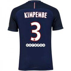 Paris Saint Germain PSG 16-17 Presnel #Kimpembe 3 Hjemmebanesæt Kort ærmer,208,58KR,shirtshopservice@gmail.com