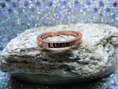 """Copper stackable rings that say """"Luck"""" on them. Size 6 only  Mix and match and stack them!"""