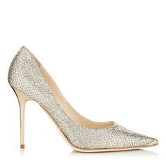 Champagne Glitter Pointy Toe Stiletto Pumps - 595 Jimmy Choo Abel
