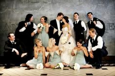 Cute wedding party photo